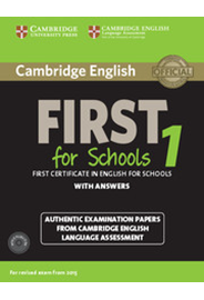 Cambridge English First 1 for Schools Student's Book Pack