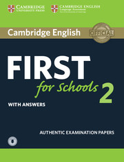 Cambridge English First for Schools 2 Student's Book with