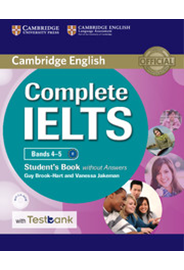 Complete IELTS Bands 4–5 Student's Book w/o Answers with CD-ROM +Testbank