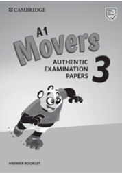 A1 Movers 3 Answer Booklet Authentic Examination Papers